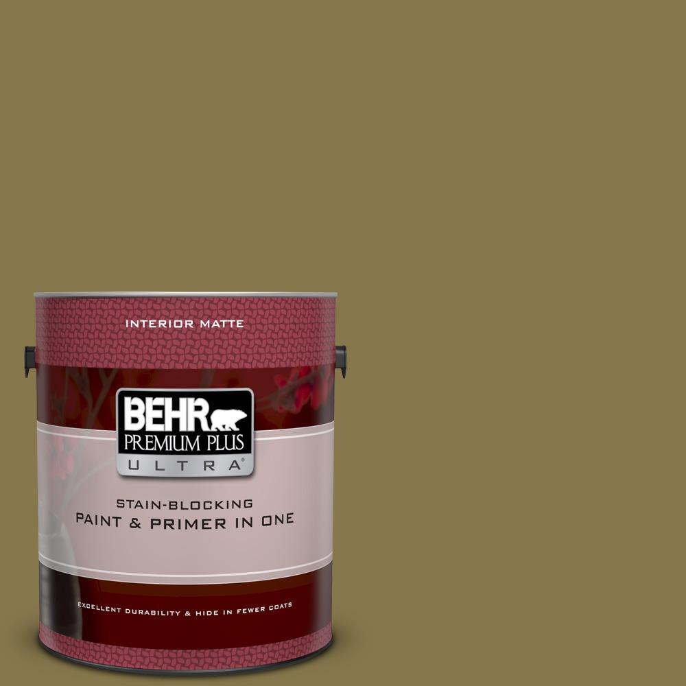 M330 7 Green Tea Leaf Matte Interior Paint And Primer In One