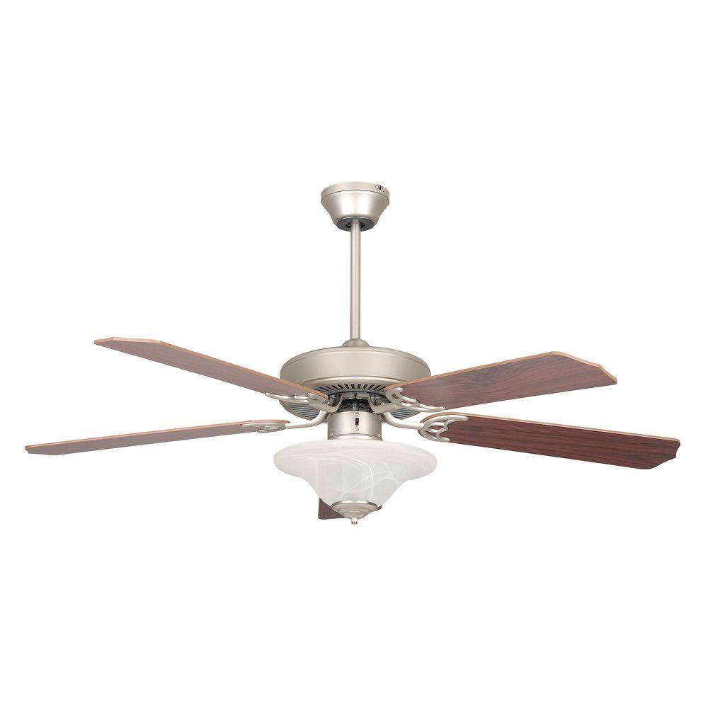 Radionic Hi Tech Nevaeh 52 in. Satin Nickel Ceiling Fan with Light Kit and 5 Blades