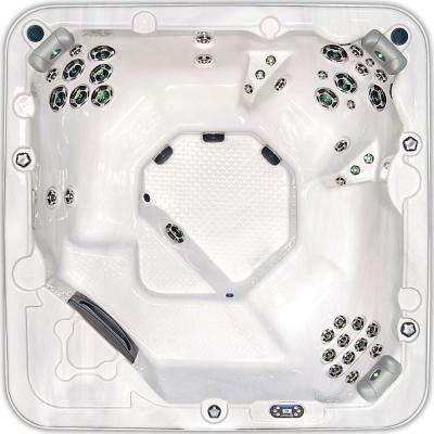 Western Star 6-Person 45-Jet Spa with Bluetooth Sound System, Waterfall, Colored LED Cabinet/Jet Mood Lighting