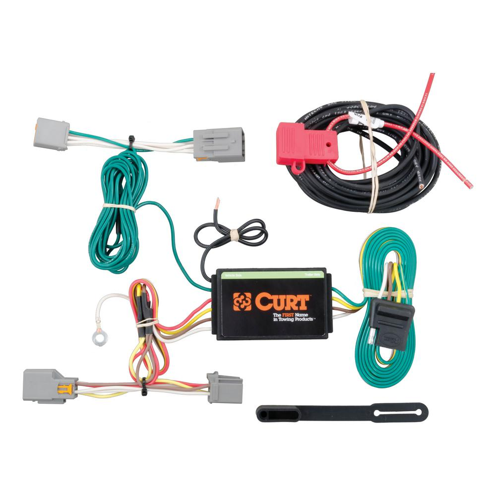 CURT Custom Vehicle-Trailer Wiring Harness, 4-Way Flat Output, Select Ford  Transit Connect, Quick Electrical Wire T-Connector-56218 - The Home Depot