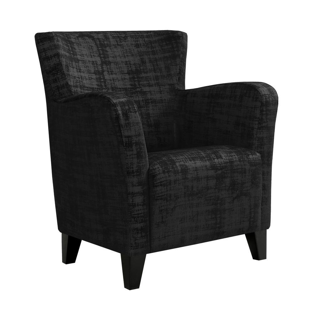 Black Brushed Velvet Accent Chair