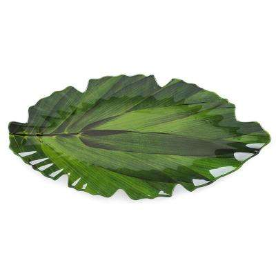 Zen 20.5 in. Melamine Serving Platter in Green