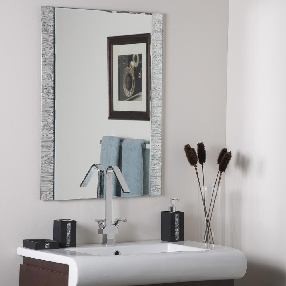Decor Wonderland 10.10 in. x 10.10 in. Rectangle Frameless Molten Wall Mirror  with Beveled Edge-DWSM10039 - The Home Depot