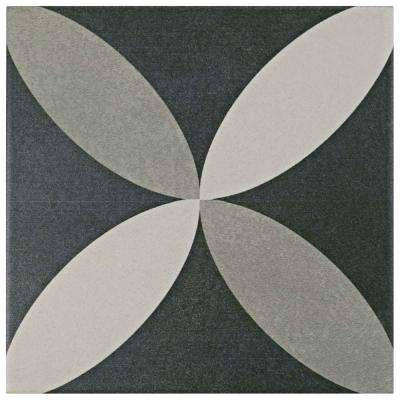 Twenties Petal 7-3/4 in. x 7-3/4 in. Ceramic Floor and Wall Tile