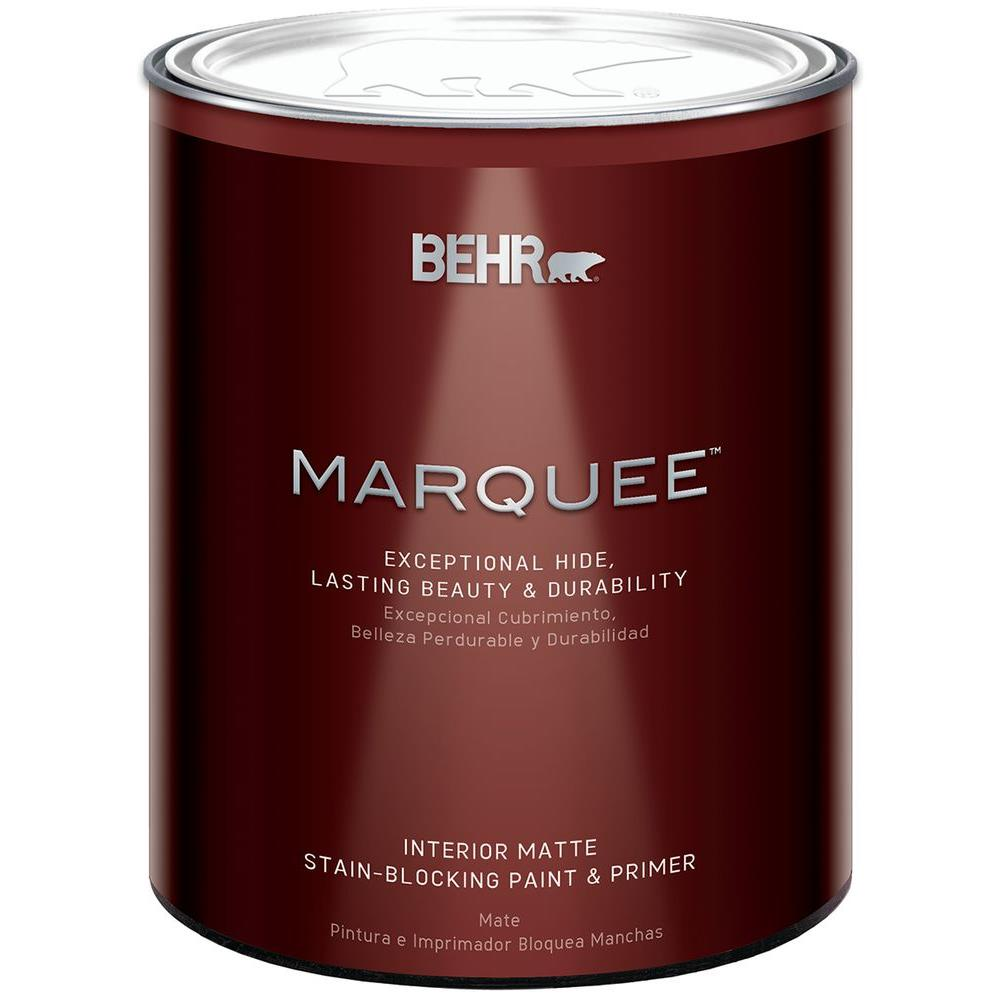 BEHR MARQUEE 1 Qt. Ultra Pure White Matte Interior Paint