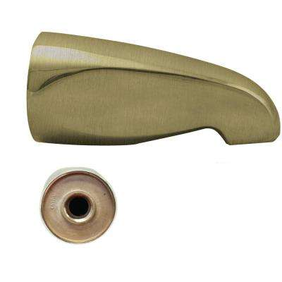 5-1/4 in. L Wall-Mount Tub Spout, Antique Brass
