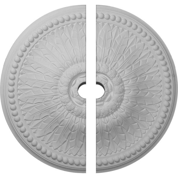 Ekena Millwork CM27AT2-04000 26 OD ID x 3 1//4 P Athens Ceiling Medallion Fits Canopies up to 4 Fits Canopies up to 4 Two Piece Factory Primed White Two Piece