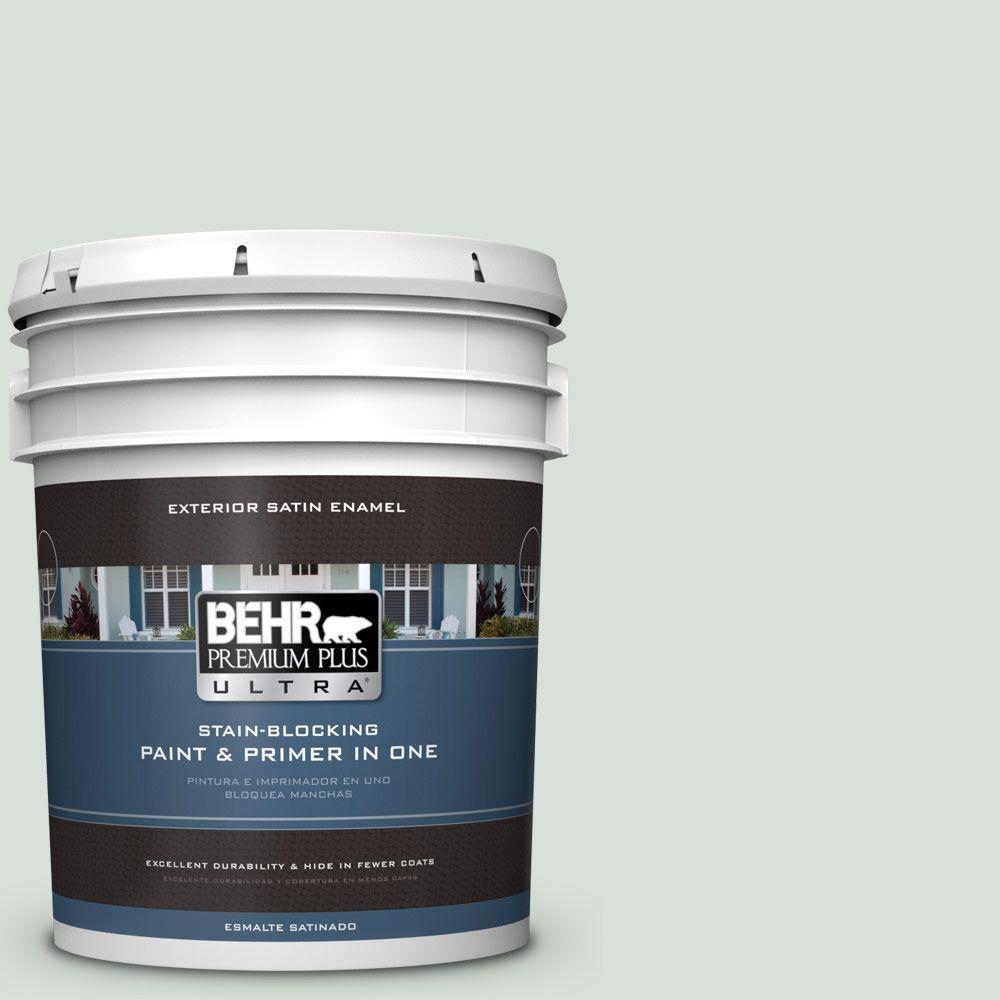 BEHR Premium Plus Ultra 5-gal. #N420-1 Juniper Breeze Satin Enamel Exterior Paint
