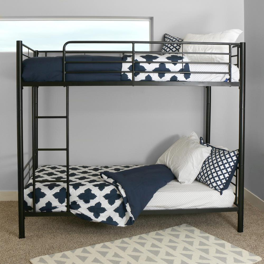 Walker Edison Furniture Company Sunset Twin Over Twin Metal Bunk Bed