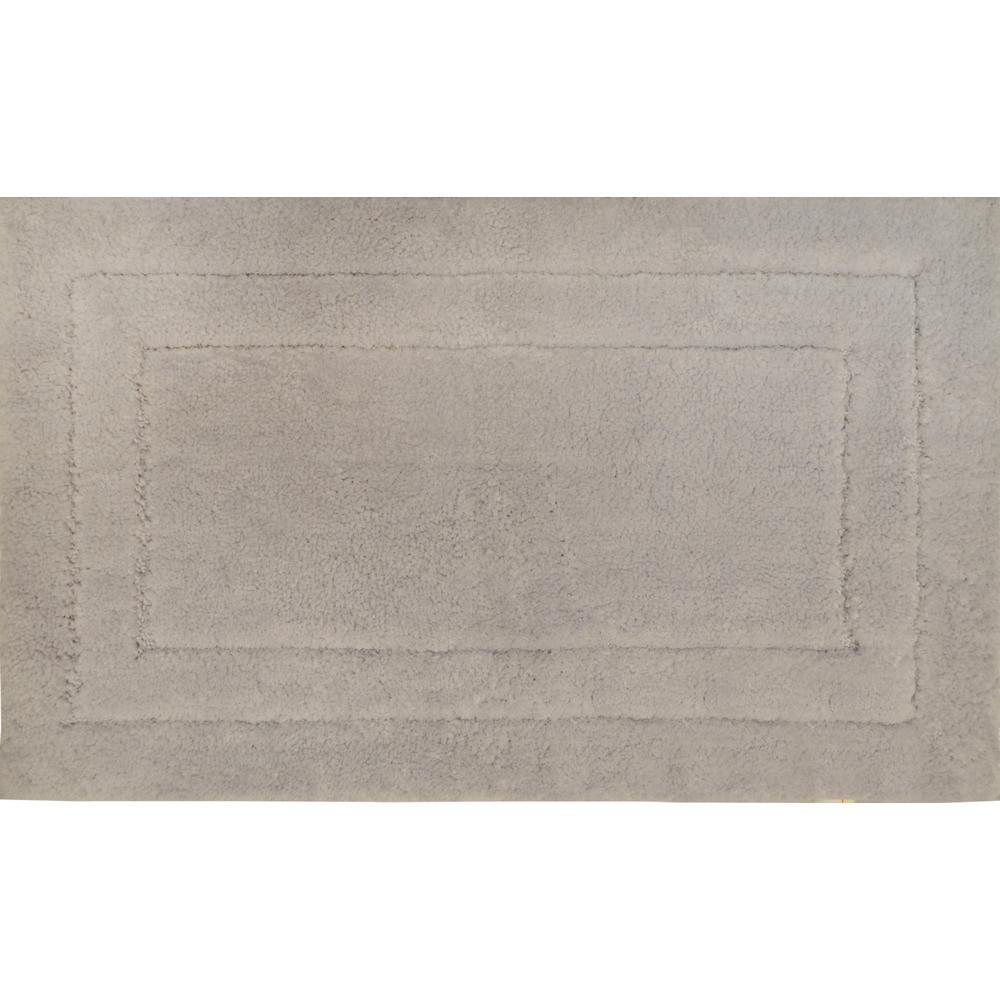 Loft Silver 17 In. X 24 In. Microfiber Bath Mat