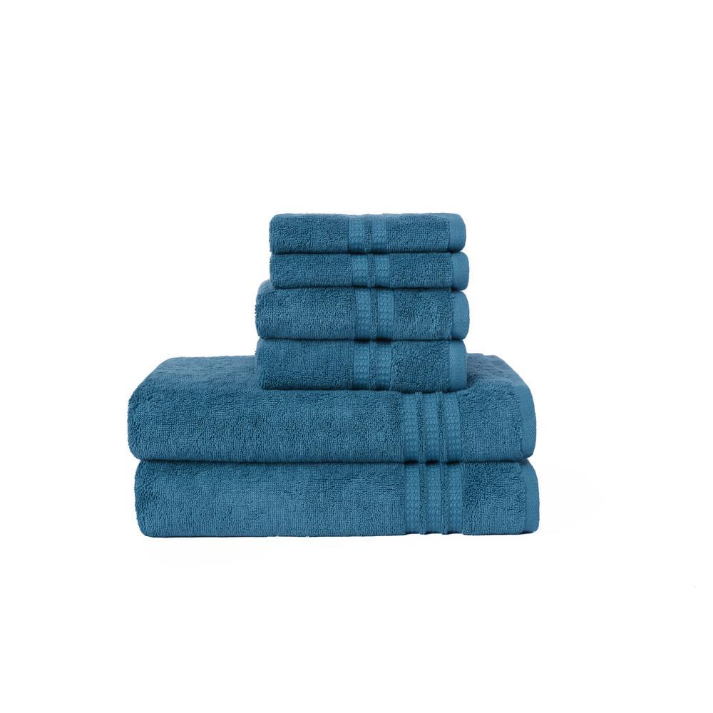 LOFT by Loftex Modern Home Trends 6-Piece Towel Set in Teal-91142 ...