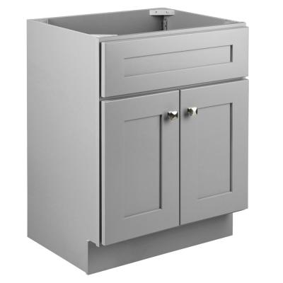 Brookings Plywood RTA 24 in. W x 18 in. D 2-Door Shaker Style Bath Vanity Cabinet Only in Gray