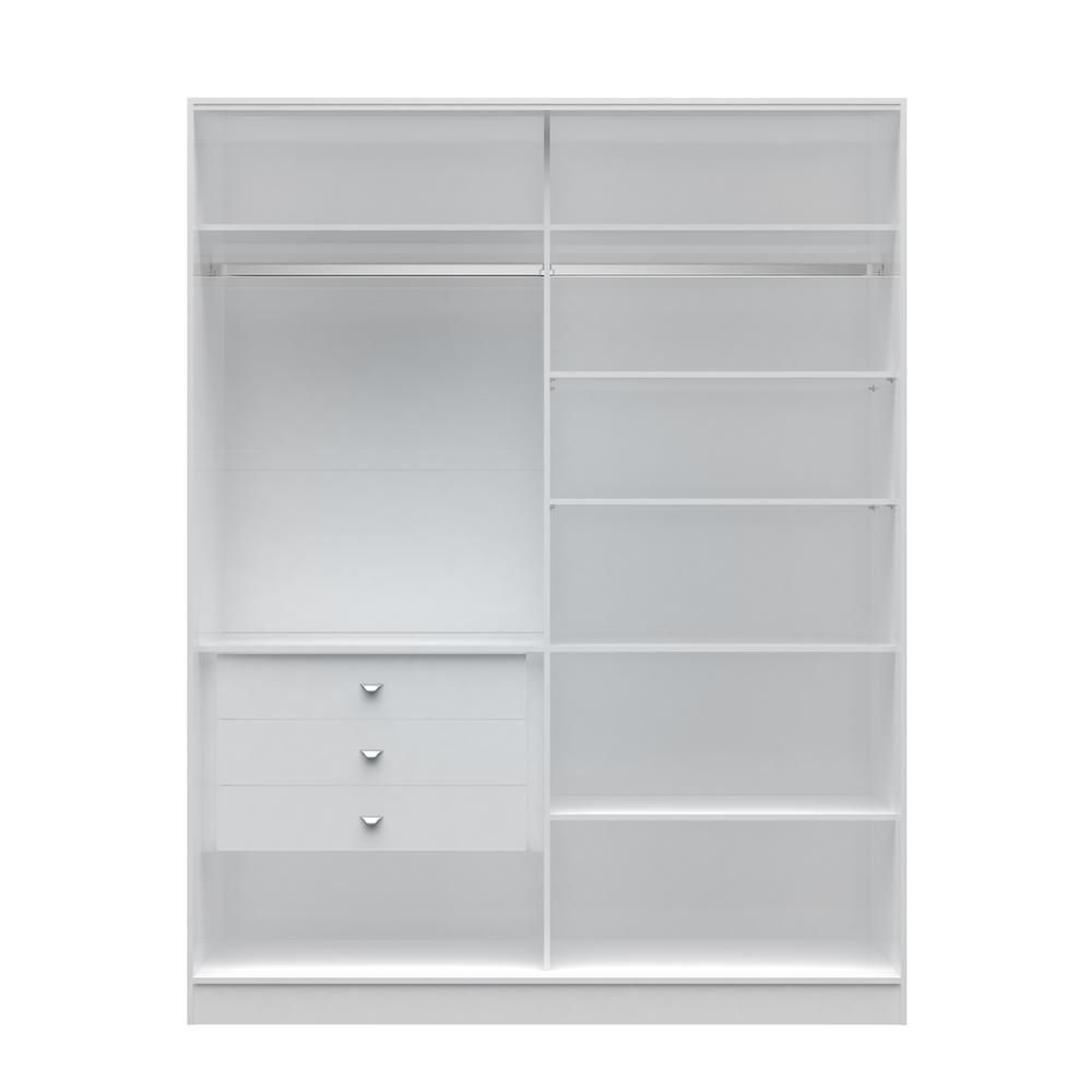Chelsea 2.0 - 70.07 in. W White Full Wardrobe with 3-Draw...
