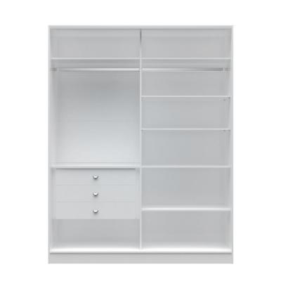 Chelsea 2.0 - 70.07 in. W White Full Wardrobe with 3-Drawers