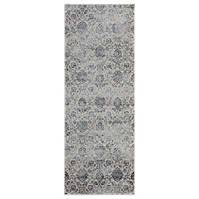 Clairmont Tartus Onyx 2 ft. 7 in. x 7 ft. 2 in. Runner Rug