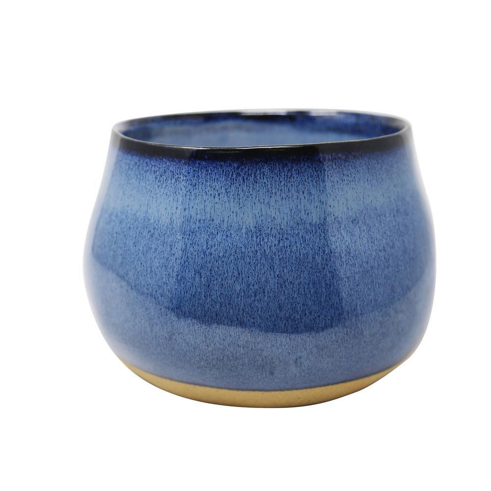 Outdoor Citronella Ceramic Blue Candle