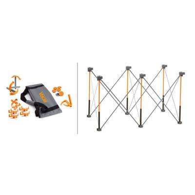 Centipede 30 in. x 24 in. x 48 in. Work Support Sawhorse and Accessories, THD Exclusive Kit