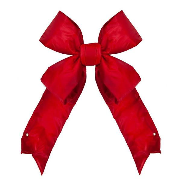 18 in. Red Nylon Outdoor Christmas Structural Bow