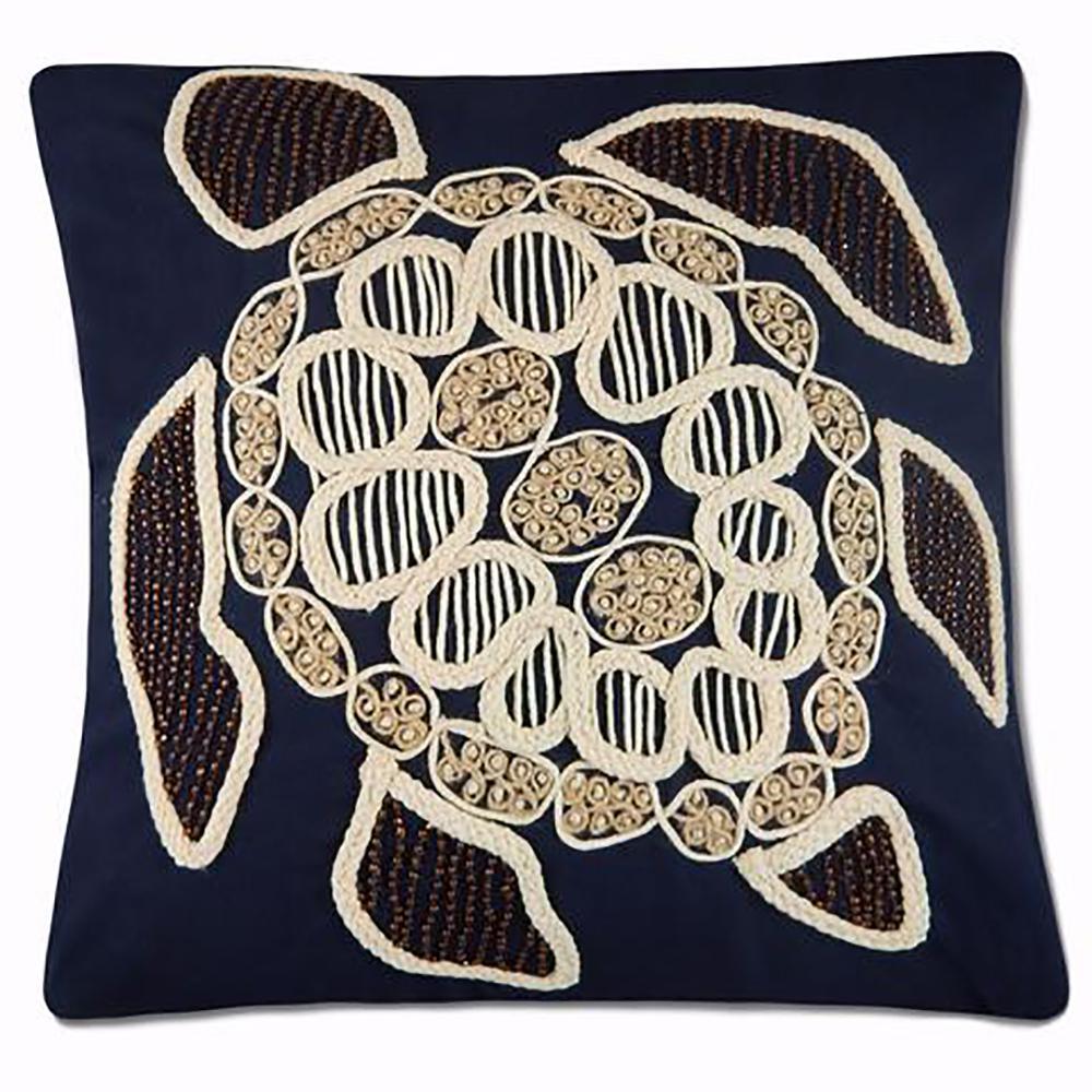 Beaded Turtle Pillow