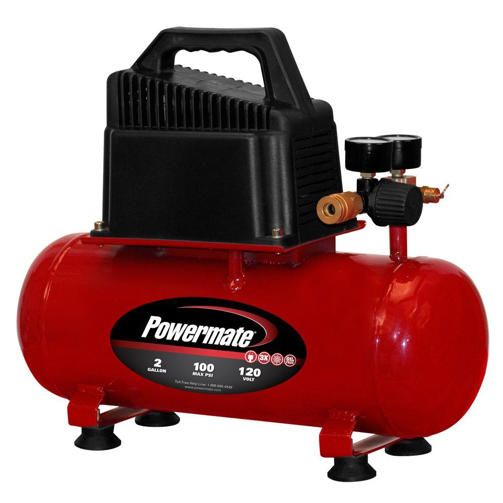 Powermate 2-Gal. Portable Electric Compressor-DISCONTINUED