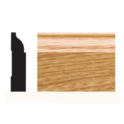 5947 3/8 in. x 1-1/4 in. x 7 ft. PVC Composite Shoe Imperial Oak Moulding