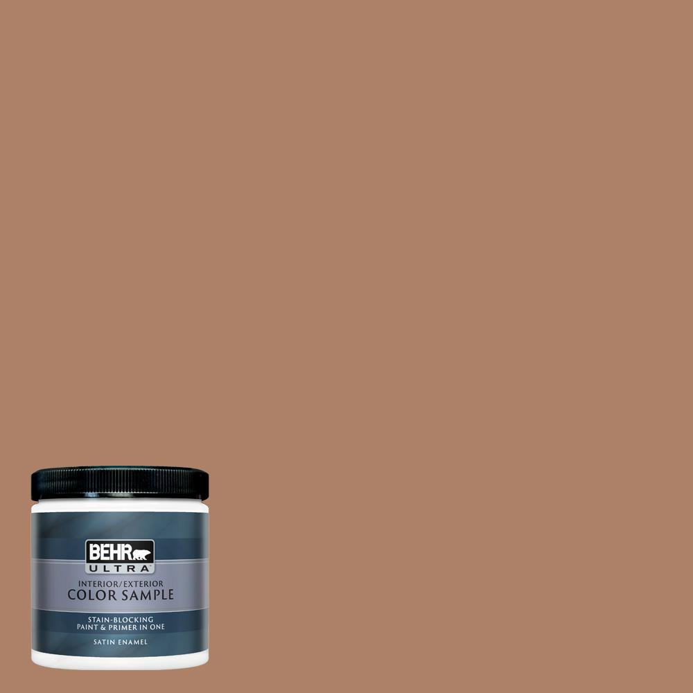 Behr Ultra 8 Oz S210 5 Cider Spice Satin Enamel Interior Exterior Paint And Primer In One Sample Ul22316 The Home Depot