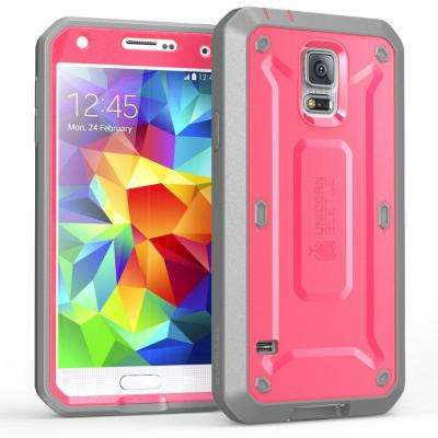 SUPCASE Galaxy S5 Unicorn Beetle Pro Full Body Case with Screen Protector, Pink/Gray