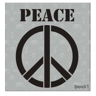 Peace Sign Small Stencil