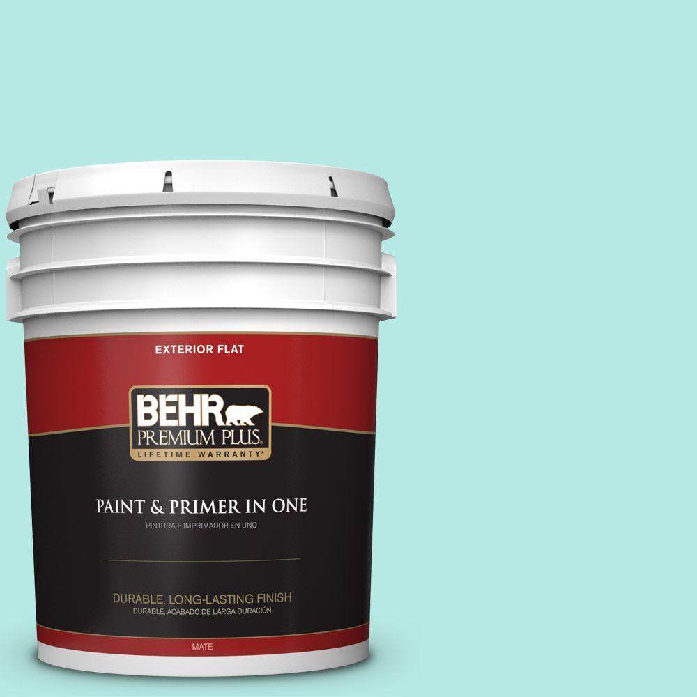 BEHR Premium Plus 5-gal. #P450-2 Tahitian Breeze Flat Exterior Paint