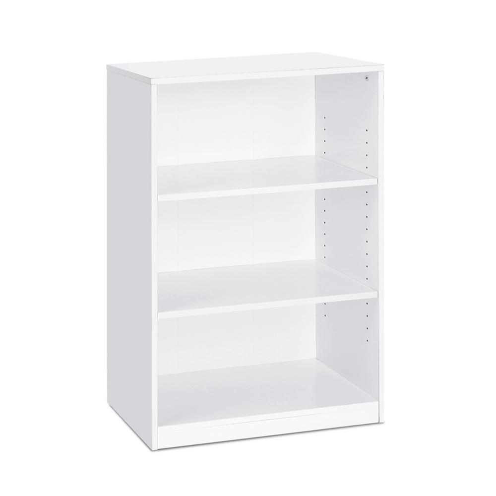 Furinno Furinno JAYA 3-Shelf White Open Bookcase