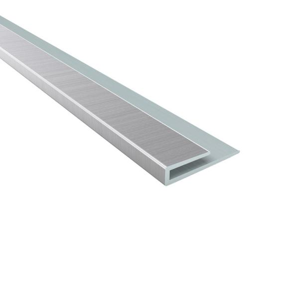 Fasade 4 Ft Brushed Aluminum J Trim 160 08 The Home Depot