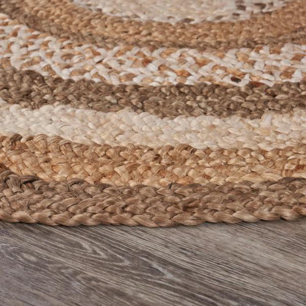 Brown 4 Ft Boutique Round Jute Area