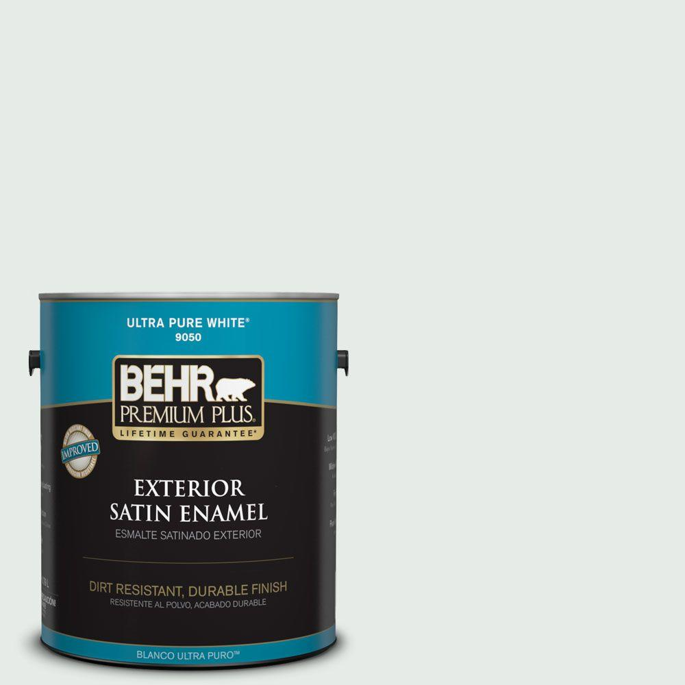 1-gal. #BL-W8 Frothy Surf Satin Enamel Exterior Paint