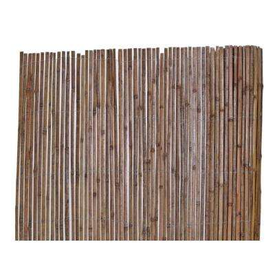 6 ft. H x 16 ft. L Bamboo Carbonized Split Slat Fencing