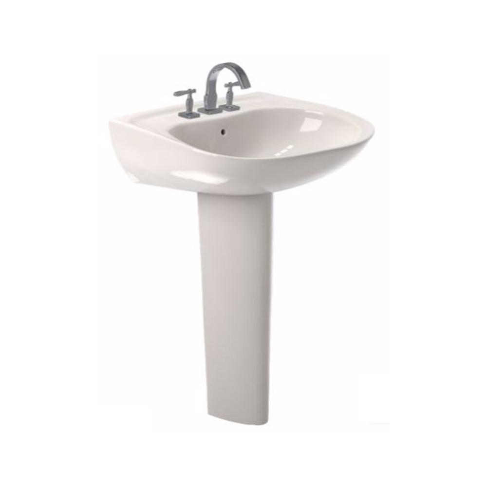 Toto Prominence 26 In Pedestal Combo Bathroom Sink With Single Faucet Hole In Sedona Beige