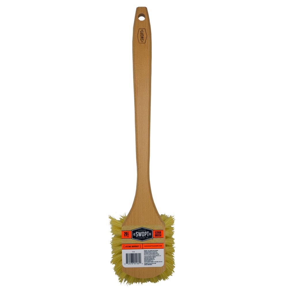 swopt long handle scrub brush stiff bristles 5160 the. Black Bedroom Furniture Sets. Home Design Ideas