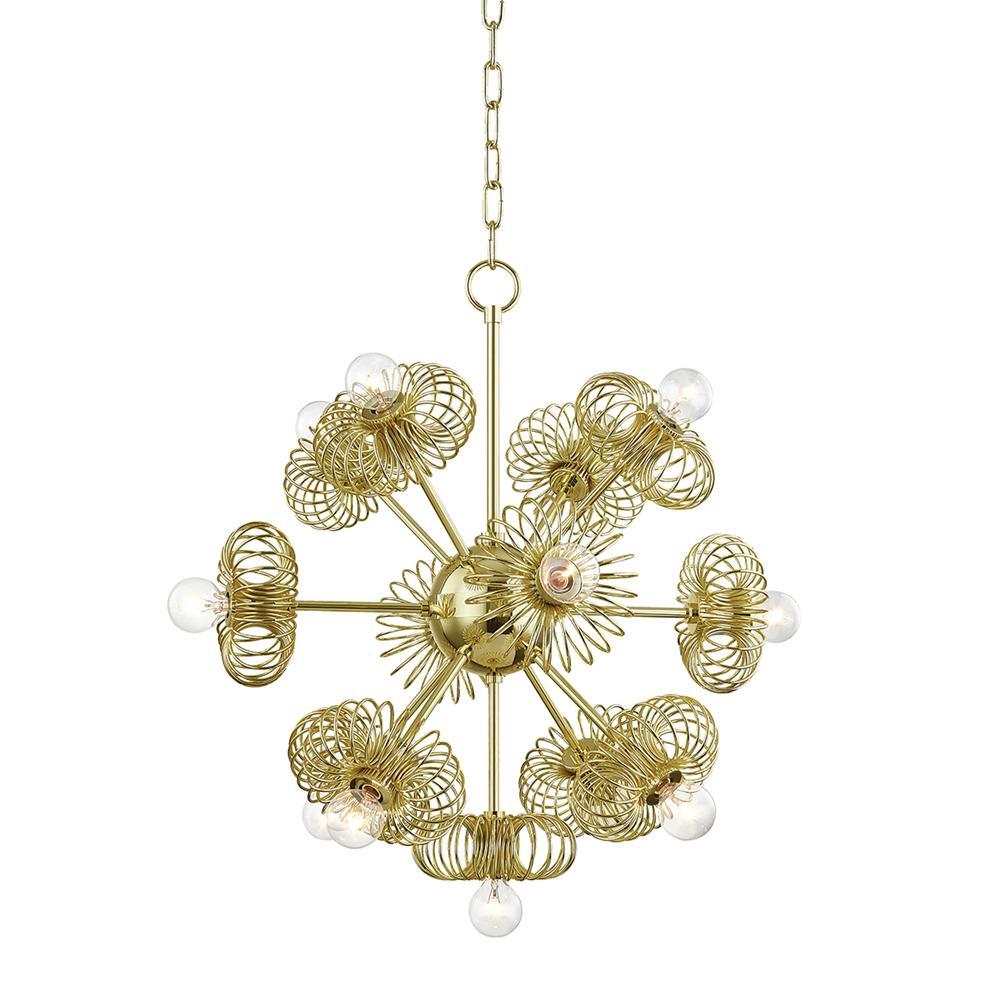 Serena 13-Light Polished Brass Chandelier
