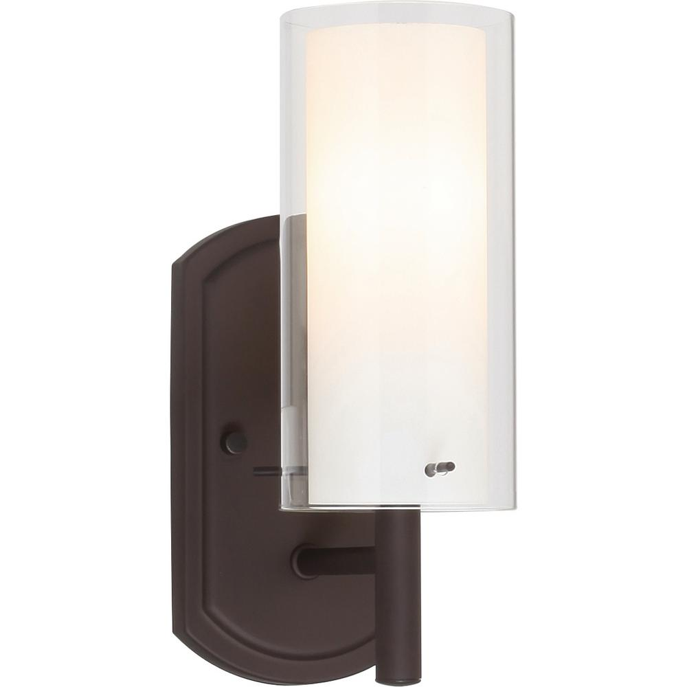 Volume Lighting Regina 1 Light 4 25 In Antique Bronze Bathroom Vanity Wall Sconce Mount