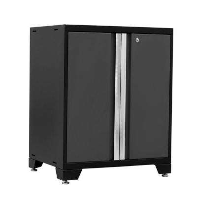 Pro 3 Series 37 in. H x 28 in. W x 22 in. D 18-Gauge Welded Steel 2-Door Base Cabinet in Gray