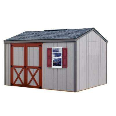 Cypress 12 ft. x 10 ft. Wood Storage Shed Kit