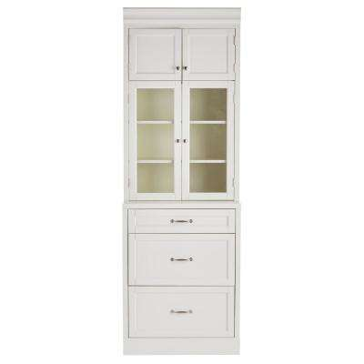 white cabinet furniture. Royce True White 3-Drawer Modular Cabinet Furniture T