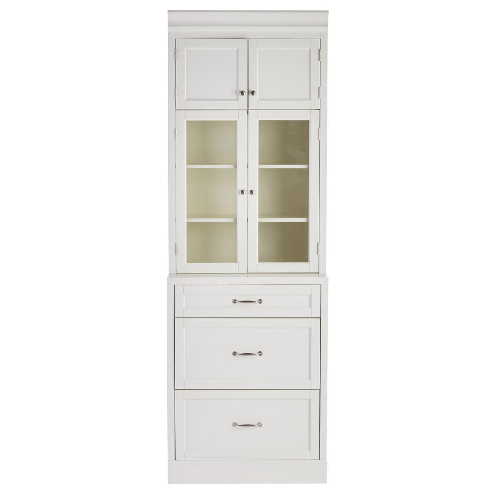 Prefab Kitchen Cabinets Home Depot: Home Decorators Collection Royce True White 3-Drawer