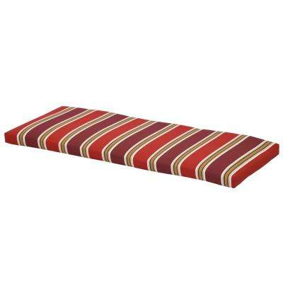 Chili Stripe Rectangular Outdoor Bench Cushion
