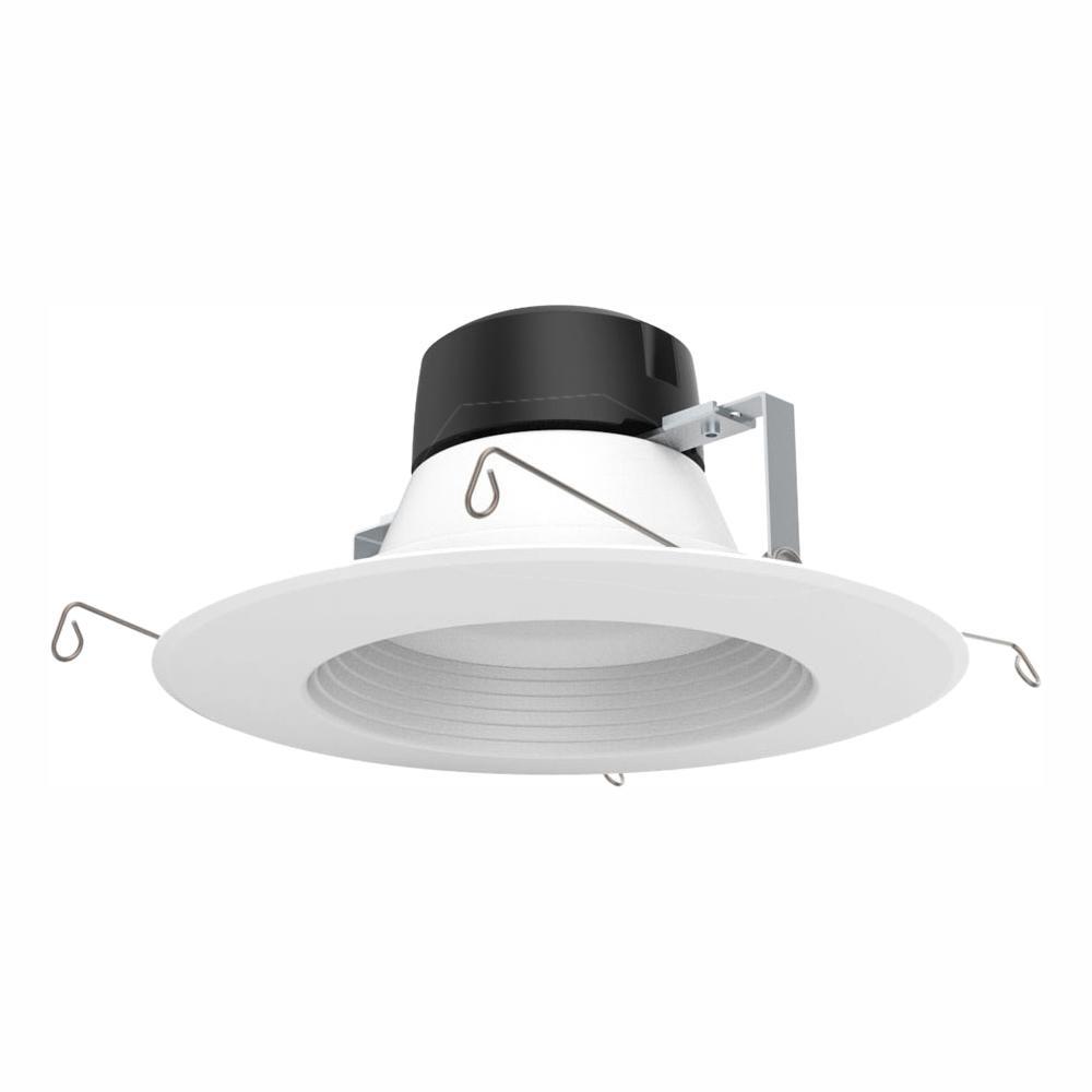 EnviroLite 5 in. /6 in. 100-Watt Equivalent White Integrated LED High Ceiling Recessed Baffle Trim, 5000K, 93 CRI (12-Pack)
