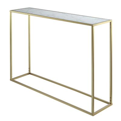 Gold Coast Gold and Faux Marble Console Table