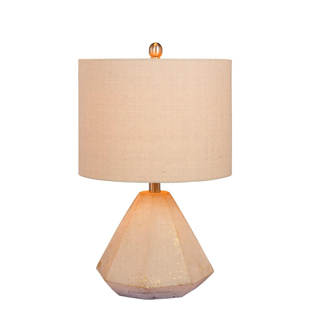 Fangio lighting 215 in faceted pyramid concrete table lamp in a fangio lighting 215 in faceted pyramid concrete table lamp in a gold geotapseo Choice Image