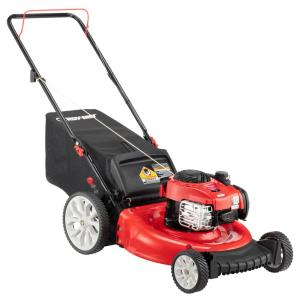 21 in. 140cc 550ex Series Briggs & Stratton Engine 2-in-1 Gas Walk Behind Push Lawn Mower with High Rear Wheels