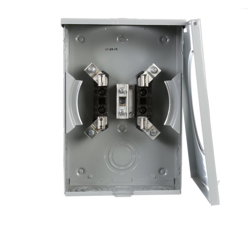 135 Amp 4 Jaw Ringless Overhead/Underground Fed Meter Socket