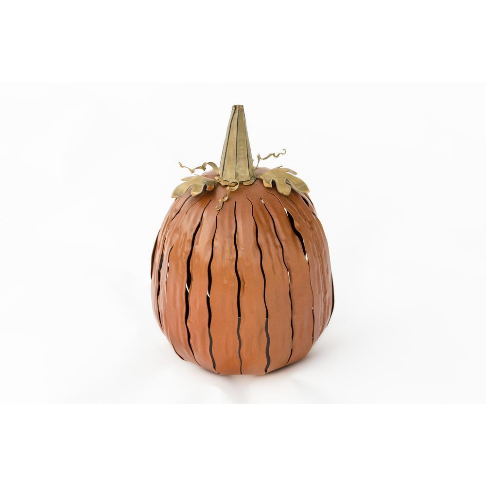 12 in. x 18 in. Orange Great Pumpkin Lantern