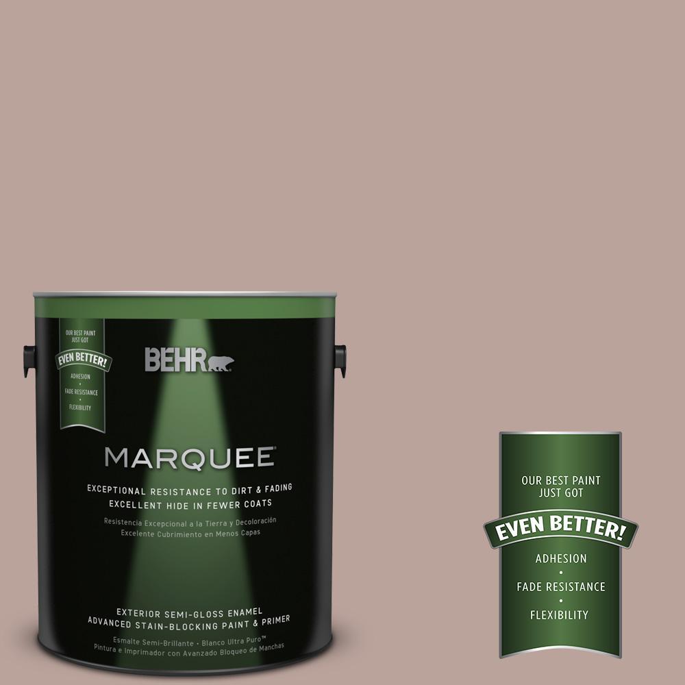 1-gal. #N150-3 Cocoa Craving Semi-Gloss Enamel Exterior Paint